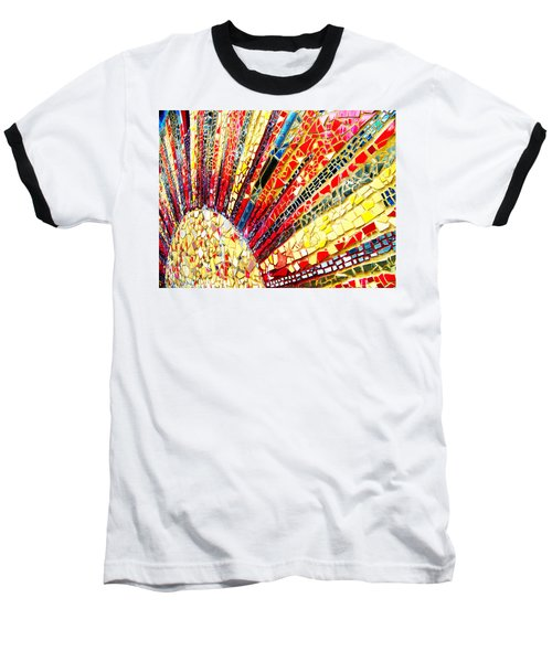 Living Edgewater Mosaic Baseball T-Shirt by Kyle Hanson