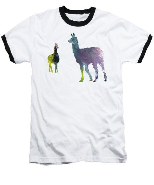 Llama Baseball T-Shirt by Mordax Furittus