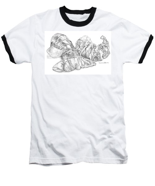 Lobster Shell Drawing Baseball T-Shirt