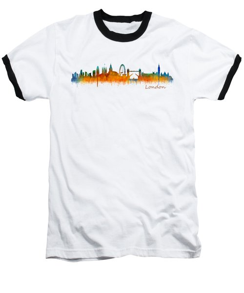 London City Skyline Hq V2 Baseball T-Shirt