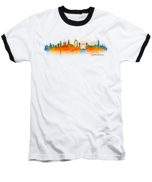 London City Skyline Hq V3 Baseball T-Shirt