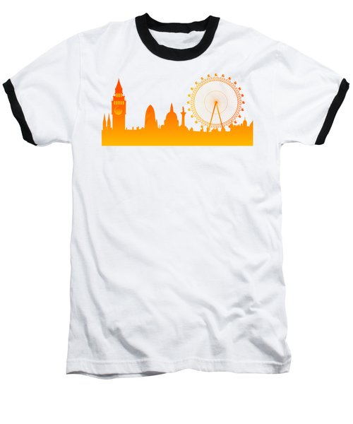 London City Skyline Baseball T-Shirt