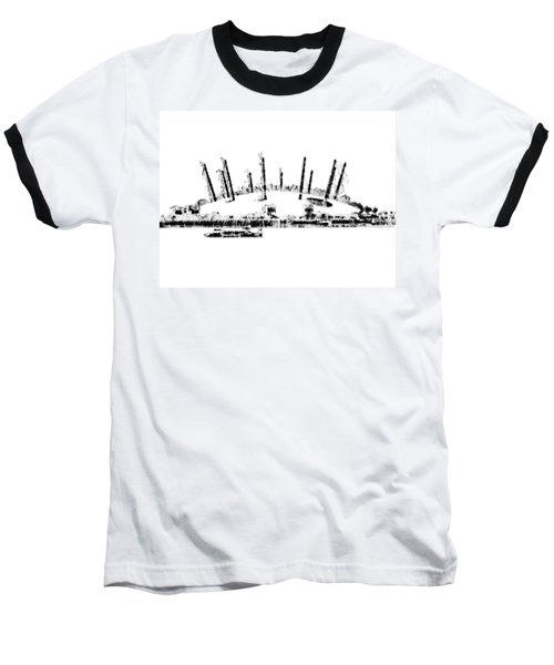 London O2 Arena Baseball T-Shirt by ISAW Gallery