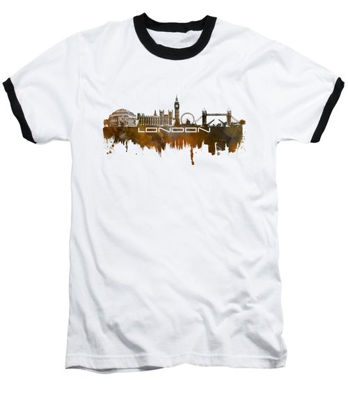 London Skyline City Brown Baseball T-Shirt