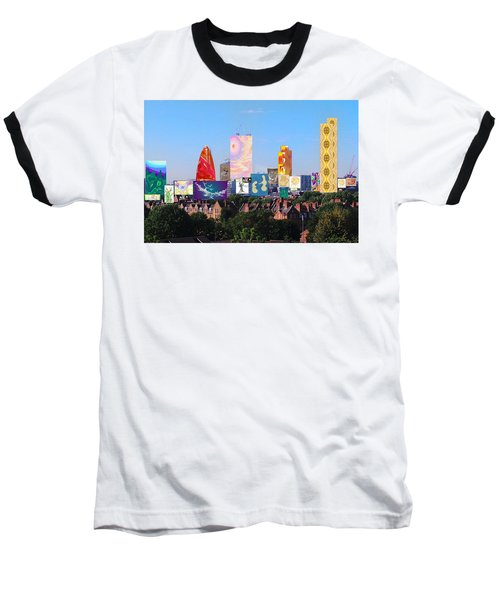 London Skyline Collage 1 Baseball T-Shirt