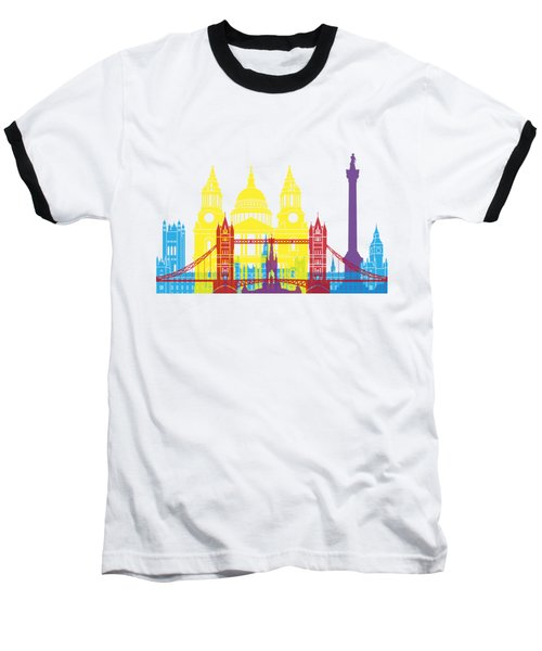 London Skyline Pop Baseball T-Shirt by Pablo Romero