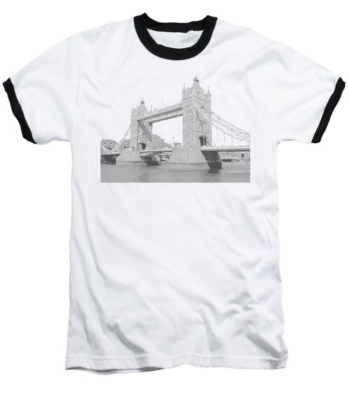 London Tower Bridge - Cross Hatching Baseball T-Shirt