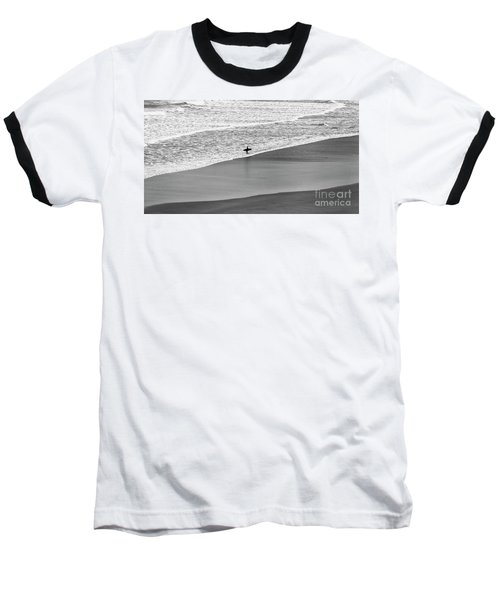 Baseball T-Shirt featuring the photograph Lone Surfer by Nicholas Burningham