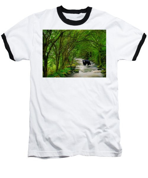 Baseball T-Shirt featuring the painting Lonely Hunter by Steven Richardson