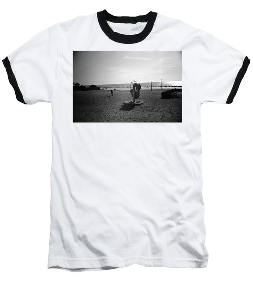 Lonely Man In Ostia Beach Baseball T-Shirt