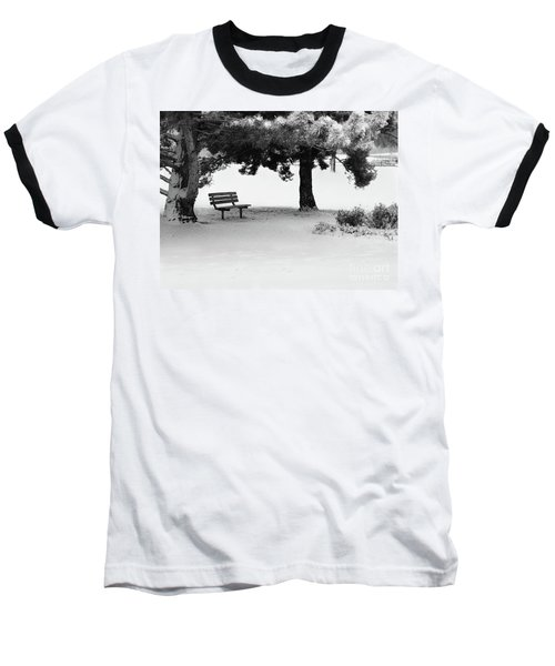 Lonely Park Bench Baseball T-Shirt