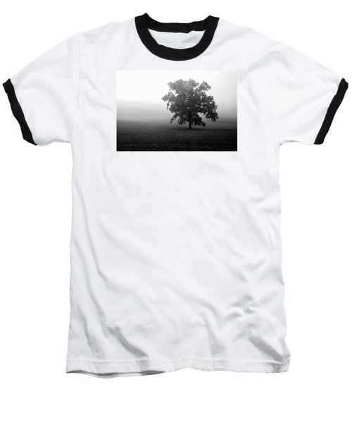 Lonely Tree Baseball T-Shirt by Deborah Scannell
