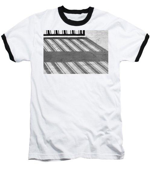 Long Shadow Of Metal Gate Baseball T-Shirt by Prakash Ghai