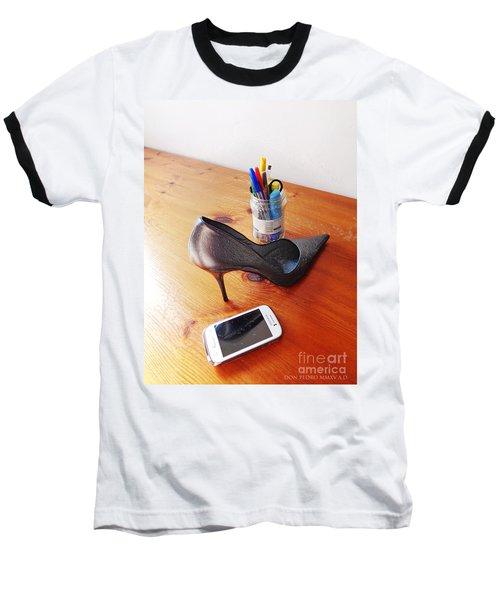 Thinking On Her Baseball T-Shirt by Don Pedro De Gracia