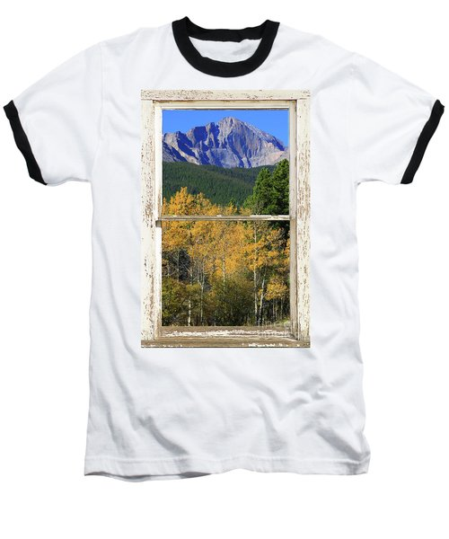 Longs Peak Window View Baseball T-Shirt