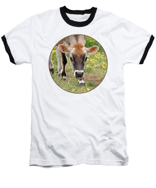 Look Into My Eyes - Jersey Cow - Square Baseball T-Shirt