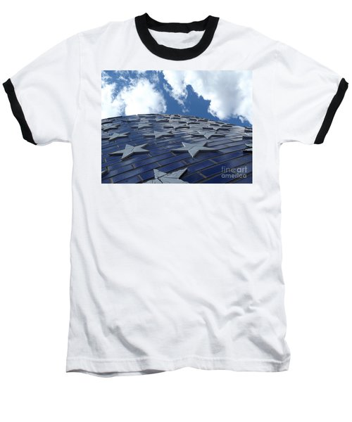 Lookig Up At The Stars And Blue Sky Baseball T-Shirt