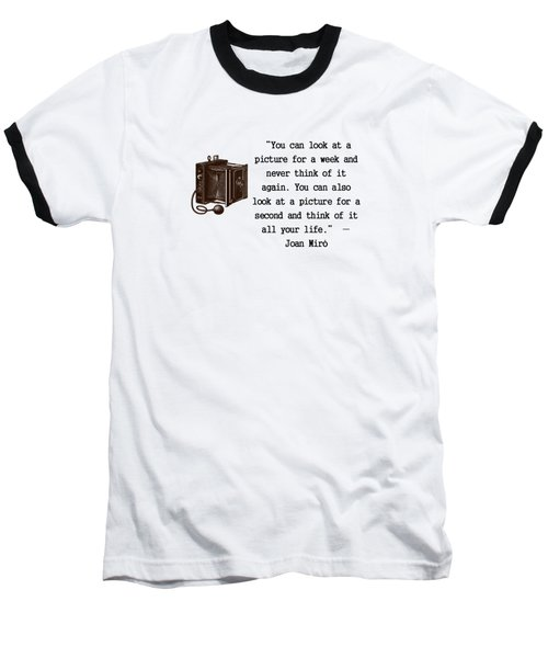 Looking At A Picture Baseball T-Shirt by Pat Cook