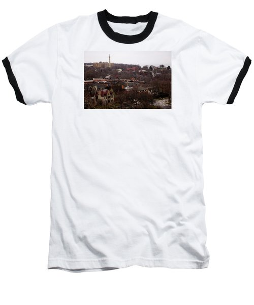 Looking North From  Lafayette And Summit. Baseball T-Shirt by David Blank
