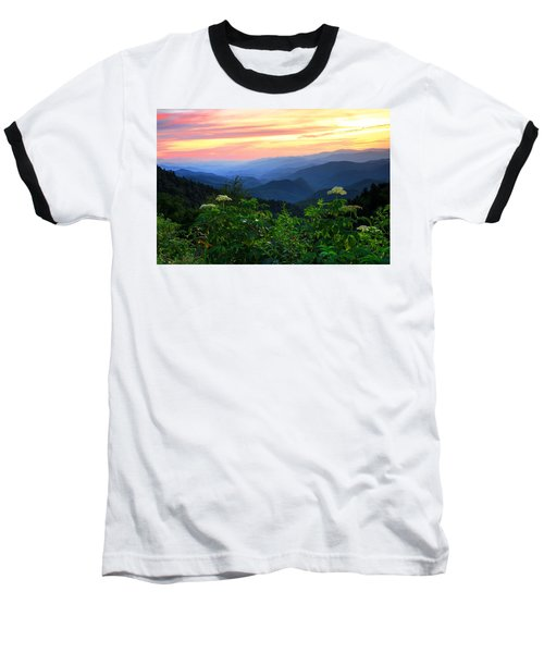 Looking Out Over Woolyback On The Blue Ridge Parkway  Baseball T-Shirt
