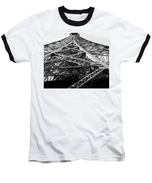 Looking Up From The Eiffel Tower Baseball T-Shirt by Darlene Berger