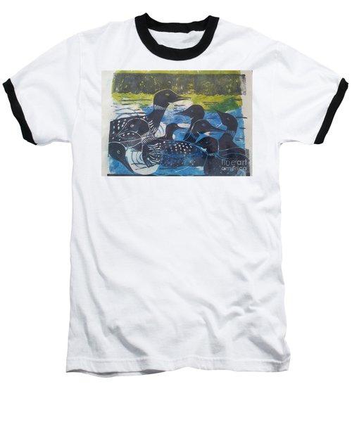 Loon, I See Baseball T-Shirt by Cynthia Lagoudakis