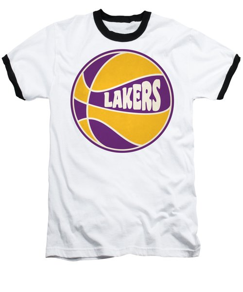 Los Angeles Lakers Retro Shirt Baseball T-Shirt by Joe Hamilton