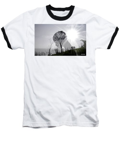 Lost Connection With Nature Baseball T-Shirt by Paulo Zerbato