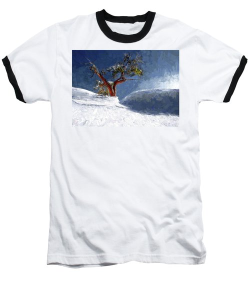 Lost In The Snow Baseball T-Shirt by Alex Galkin