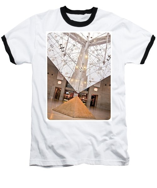 Baseball T-Shirt featuring the photograph Louvre Pyramid by Silvia Bruno
