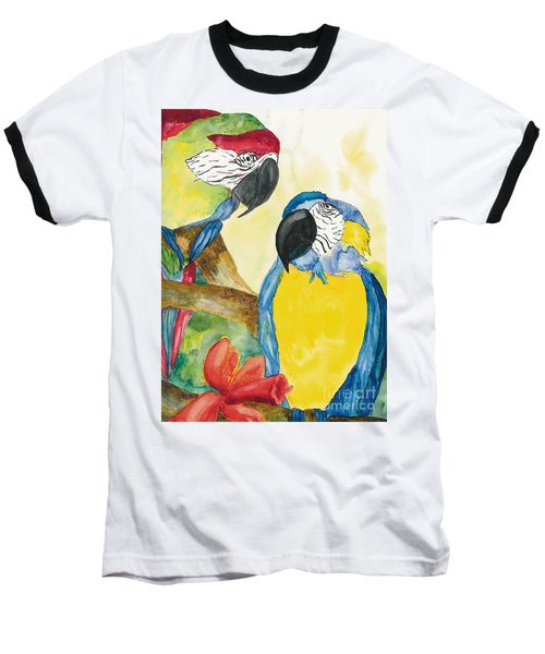Baseball T-Shirt featuring the painting Love Birds by Vicki  Housel
