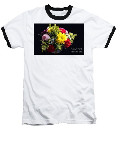 Love Bouquet Baseball T-Shirt by Becky Lupe