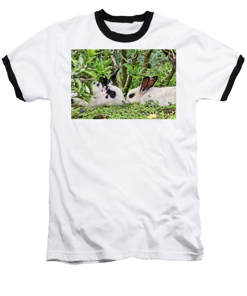 Love Bunnies In Costa Rica Baseball T-Shirt by Peggy Collins
