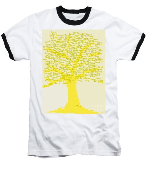 Baseball T-Shirt featuring the painting Love Inspiration Tree by Go Van Kampen