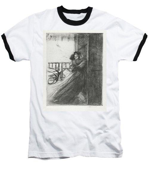 Baseball T-Shirt featuring the drawing Love - La Femme Series by Paul-Albert Besnard