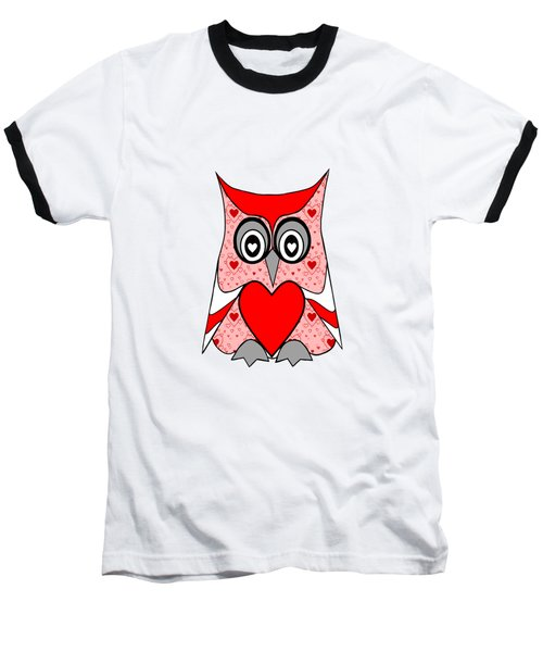 Love Owl - Valentines Art Baseball T-Shirt