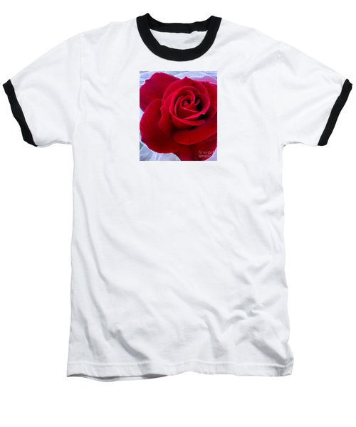 Baseball T-Shirt featuring the photograph Love Red Rose by Haleh Mahbod