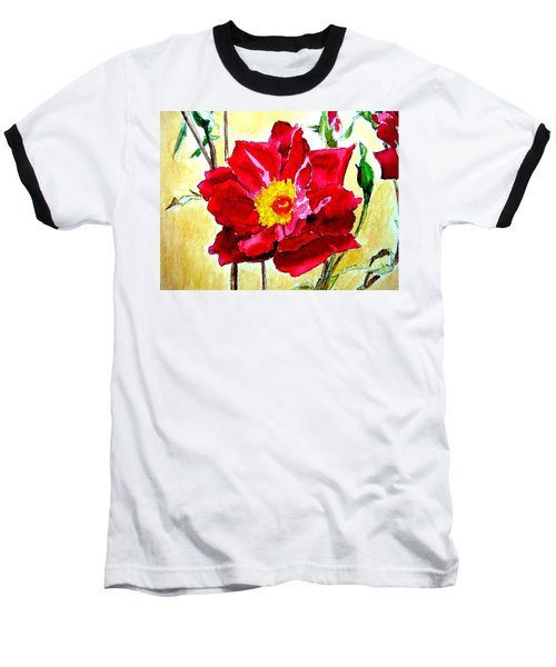 Baseball T-Shirt featuring the painting Love Rose by Ana Maria Edulescu