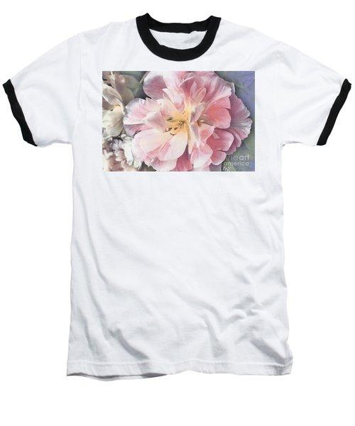 Loveliness Flower Baseball T-Shirt by Marsha Heiken
