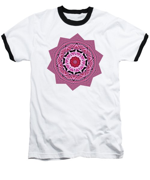 Baseball T-Shirt featuring the photograph Loving Rose Mandala By Kaye Menner by Kaye Menner