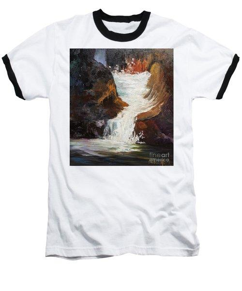 Lower Chasm Waterfall Baseball T-Shirt