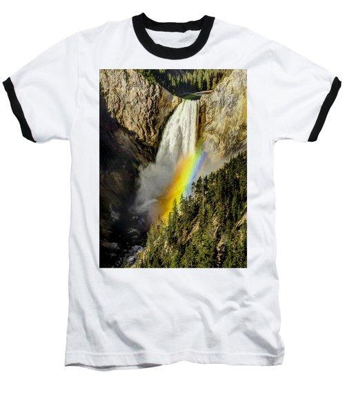 Lower Falls- Yellowstone Park Baseball T-Shirt