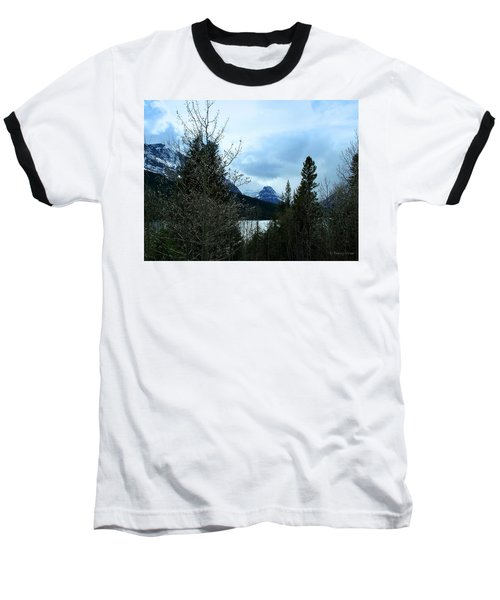 Lower Two Med Lake Through The Trees Baseball T-Shirt