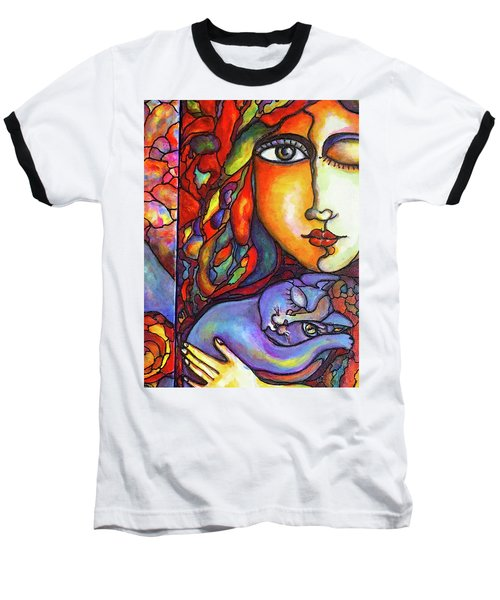 Baseball T-Shirt featuring the painting Lucid Dreams by Rae Chichilnitsky