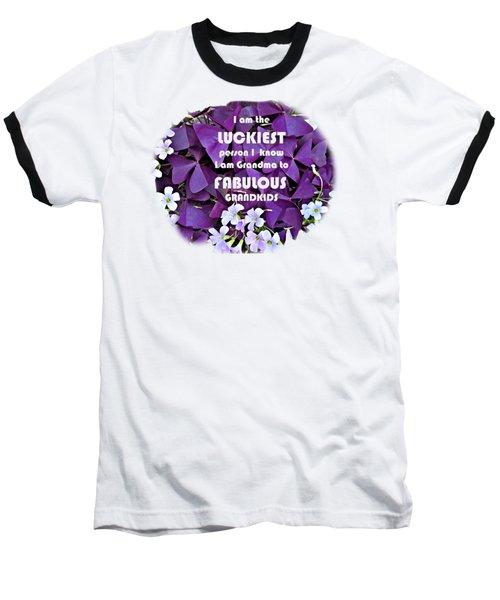 luckiest GRANDMA Baseball T-Shirt