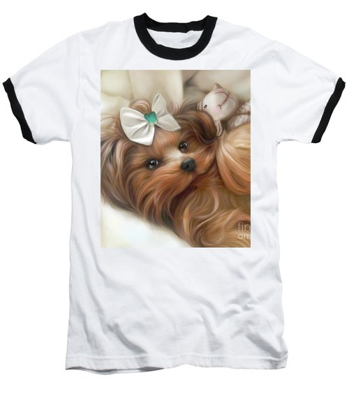 Lulu And Mr.lamb Baseball T-Shirt by Catia Cho