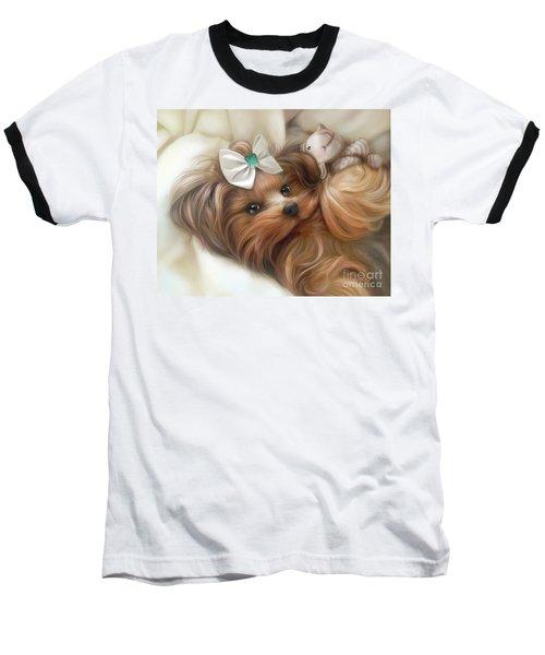 Lulu And Mr.lamb Baseball T-Shirt