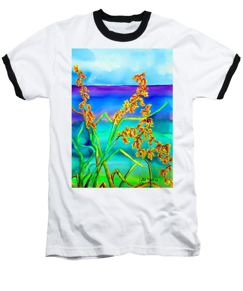 Baseball T-Shirt featuring the painting Luminous Oats by Lil Taylor