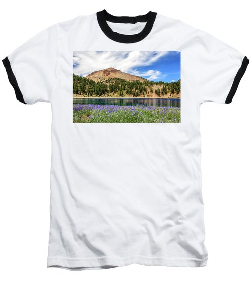 Lupines Lake And Lassen Baseball T-Shirt