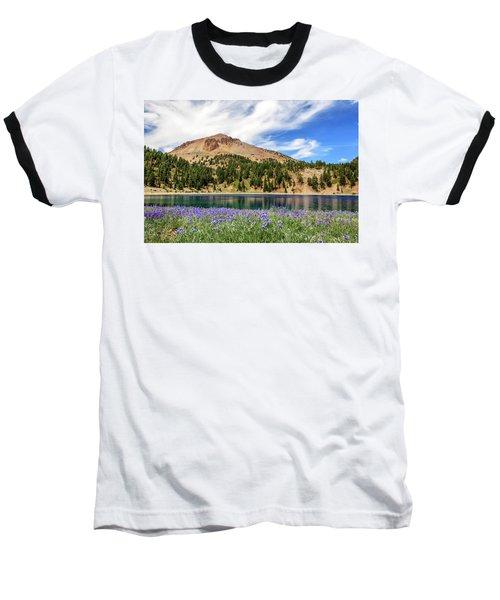 Lupines Lake And Lassen Baseball T-Shirt